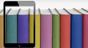 Buchreihe mit iPad